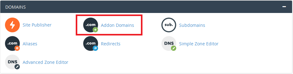 Menu Addon Domain Cpanel